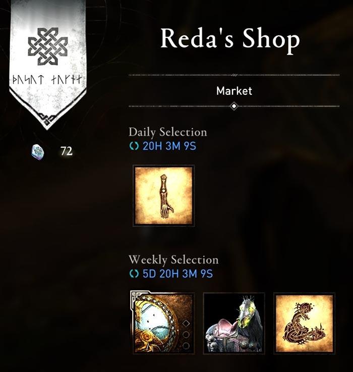Assassin's Creed Valhalla, Reda's Shop