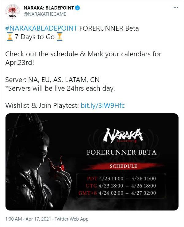 Naraka: Bladepoint Twitter