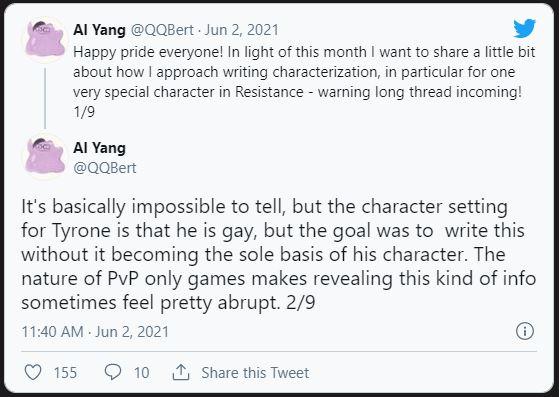 Resident Evil: Resistance, Tyrone Henry, LGBTQ+, Al Yang twitter