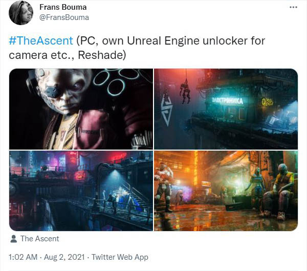 Mod, Universal Unreal Unlocker, UUU, Unreal Engine 4, Frans Bouma, Photo Mode