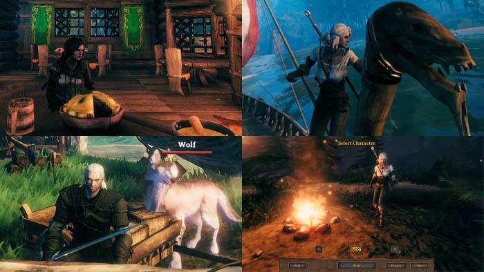 Valheim, Mod, The Witcher Characters in Valheim, Geralt, Ciri, Yennefer, Triss, SiennaGrace, Valheim VRM